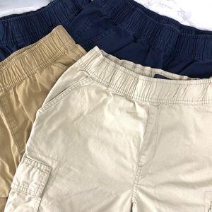 Lot of 4 Uniform Pull on Cargo Shorts